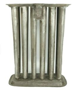Antique 12 Tube Candle Mold 1800s Tin Metal With Handle Hanger Note With History