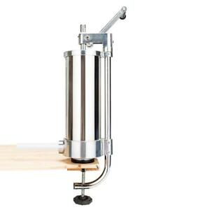 Manual Stainless Steel Vertical Sausage Stuffer 3l 7lbs Meat Maker Commercial Us