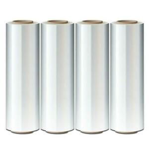 Cast Hand Stretch Wrap 18 X 1000 80 Gauge Plastic Bundling Shrink Film 4 Rolls