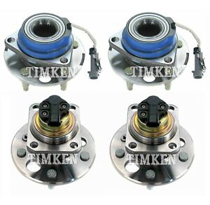 Front And Rear Wheel Bearing Hub Assy Kit Timken For Lesabre 88 Bonneville Fwd