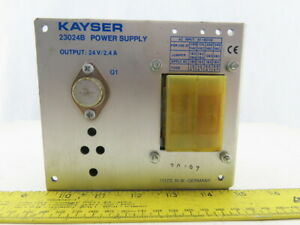 Kayser 23024b Power Supply 24v 2 4a