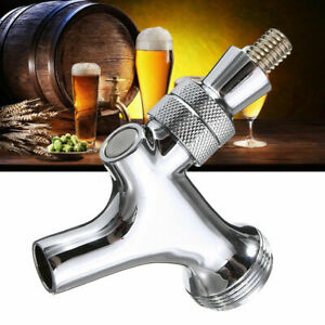 Standard Chrome Polished Draft Beer Faucet Tap Keg Kegerator Shank Spout Brew
