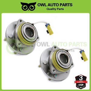 Pair 2 Front Wheel Hub Bearing Assembly For Chevy Pontiac W Abs 513121