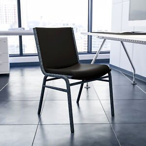 Heavy Duty Black Dot Fabric Stack Chair Reception Furniture