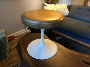 Eero Saarinen Mid Century Modern Knoll Tulip Stool Early Alcoa Base