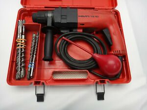 Hilti Te10 Hammer Drill 115vac Corded With 7 Bits And Case