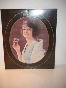 Coca Cola Girl Sign Repro 1970's from 1920's Advertising