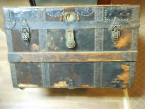 Crouch Fitzgerald Travel Chest Trunk Treasure With Removable Tray