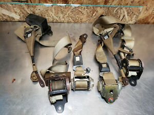 78 79 Toyota Celica Complete Seat Belt Receiver Buckle Safety Latch Set Oem Tan