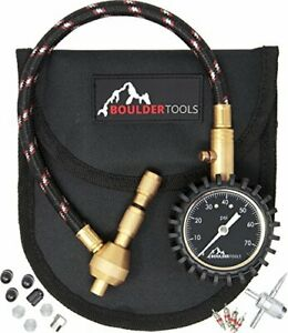 Boulder Tools All New Heavy Duty Rapid Tire Deflator Kit With Valve Caps