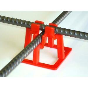 Rebar Chair Fastening Support Rod Holder Concrete Cement 1 1 2 Inch 50 pack