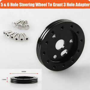 1pc Car Steering Wheel To Grant 3 Hole 0 5 Hub For 6 Hole Adapter Kit Aluminum