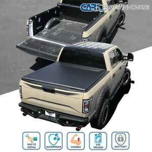 Fit 07 19 Toyota Tundra Crewmax 5 5 Short Bed Black Vinyl Roll Up Tonneau Cover