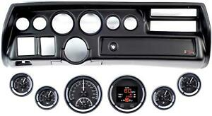 70 72 Chevelle Sweep Black Dash Carrier Dakota Digital Black Hdx Universal Gauge