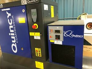 120 Gallon 125 Psi 3 Phase Quincy Compressor Qgs 15 Air Dryer