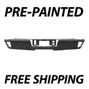New Painted To Match Rear Bumper Face Bar For 2014 2018 Chevy Silverado 1500