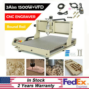 Cnc 6090 Router Engraver Woodwork Metal Pcb Carving Milling Machine Kit 3axis