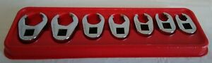 Snap On 207sfrh 7 Piece Flank Drive Flare Nut Crowfoot Wrench Set 3 8 To 3 4