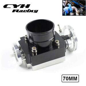 70mm Universal Aluminum Billet Cnc Throttle Body For 2 75 Inch Intake Manifold