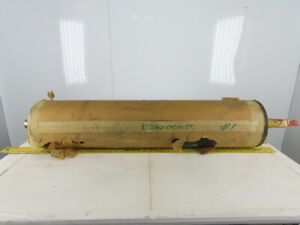 Dematic 8 Od Rubber Lagged Conveyor Roller Drum 2 7 16 Shaft 40 Bf