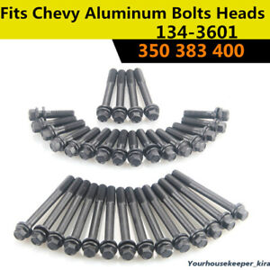 For Chevy Cylinder Sbc Small Block Bolts Heads 350 383 400 35crmo Steel 134 3601