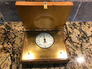 T2 Vintage Ashcroft Vacuum Gauge W original Wood Box