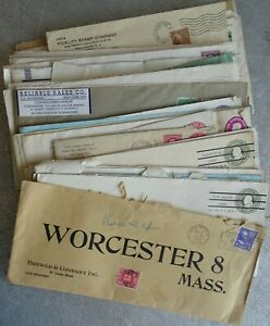 51 Mailed Envelopes (Mostly 1930's) Coca-Cola, Guernsey Cattle Club, New York NY