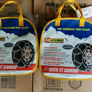 Lot Of 2 Les Schwab The Premium Tire Chain Quick Fit Diamond 1545 s New In Bags