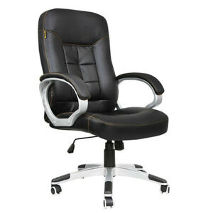 400 Lb Heavy Duty High Back Big And Tall Desk Chair Executive Ergonomic Leather