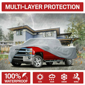 Motor Trend Xl2 Pickup Truck Cover Waterproof Rain Snow Uv Sun Outdoor Safe Gray