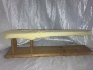 Vintage Small Wooden Tabletop Ironing Board Sleeves Wood 21 Long