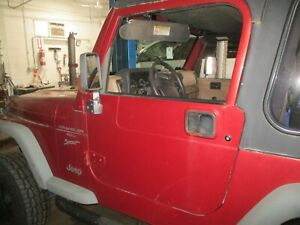 97 06 Wrangler Full Steel Doors Chili Red W Key Oem please Read Shipping Terms