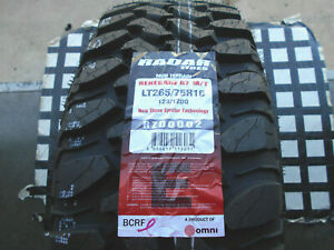 2 New Tires 265 75 16 Radar Renegade R7 M t Mud Terrain Lt265 75r16 Lre W l