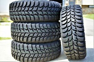 4 New Crosswind M t Lt 33x12 50r18 Load E 10 Ply Mt Mud Tires
