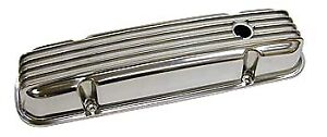 Bandit Valve Cover Set 6285 Nostalgic Finned Polished Aluminum For Pontiac V8