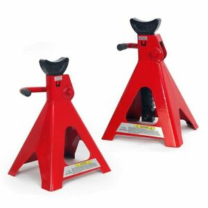 6 Ton 12000 Lb Capacity Hd Steel Powder Coated Jack Stand Lift Hoists Set Of 2