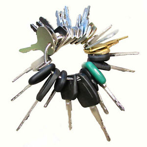 Construction Equipment Ignition Key Set 25 Different Keys Fits Many Models