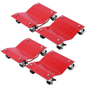 Vivohome 4 Pack 3 Tire Wheel Dollies Dolly Vehicle Car Auto Repair Moving Jack