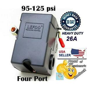 Lefoo Pressure Switch Control 90 125psi 4 Port Heavy Duty 26 Amp For Air Compres