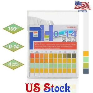 100pcs 0 14 Ph Indicator Test Strips Paper Tester Water Litmus Urine Saliva Us