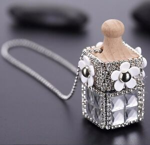 Crystal Car Air Hanging Freshener Perfume Diffuser Pendant Ornament Home Decor