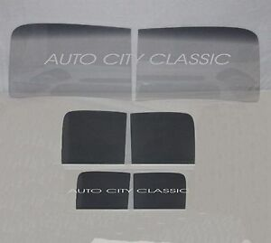 Glass 1940 1941 1942 Ford Pickup Panel Delivery 2pc Windshield Door Back Grey