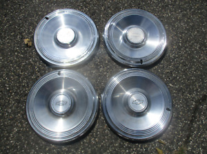 Factory 1973 Chevy Impala 15 Inch Hubcaps Wheel Covers Set