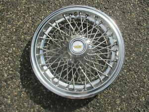 One Factory 1982 To 1996 Chevy Caprice 15 Inch Wire Spoke Hubcap Wheel Cover
