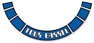 Ford V8 Air Cleaner Decal Blue Four Barrel Xd Xe Zj Zk Filter Sticker Engine 4 9