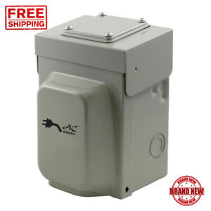Power Inlet Box 30 Amp Locking 4 Prong Temporary Generator Transfer Switch New