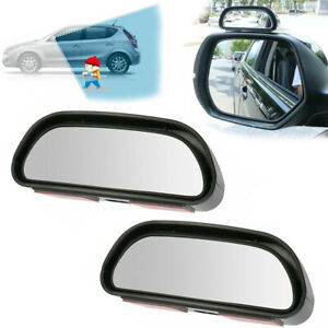 Car Truck Suv Wide Angle Side View Mirror Blind Spot Convex Mirror Adjustable 2x