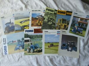 Ford New Holland Tractor Combine Lawn Tractor Brochure Lot Of 10