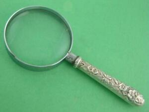 Sterling S Kirk Son Magnifying Glass Repousse