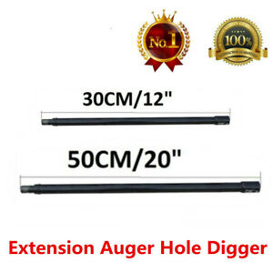Pro Extension Bit Auger 20 12 Long 3 4 Shaft Gas Post Hole Digger Earth
